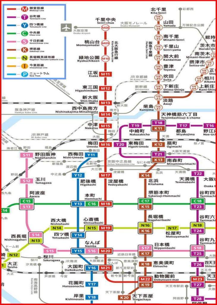 大阪メトロ 路線図 沿線マップ